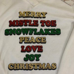 "Tru Self Sweaters - NWT True Self ""Merry Christmas"" Sweater - S"